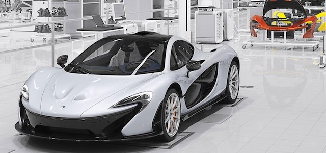 McLaren P1comes off the assembly line
