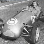 Betty Haig in a Cooper single-seater