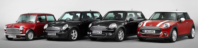 Memory lane ... how Mini has changed over the years