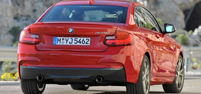 Rear view of BMW 2-Series coupe