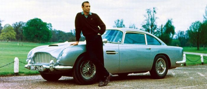Sean Connery and the DB5 from 'Goldfinger'