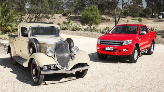 1934 ute with latest Ranger