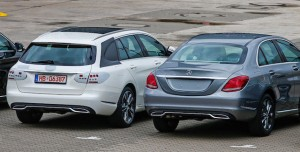 Side by side ... wagon and sedan