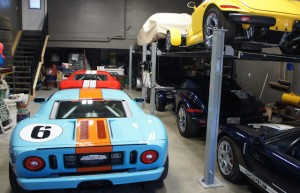 Three Ford GTs among the 40 cars