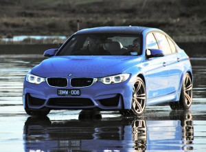 The four-door M3: hides its furious intent better than the M4