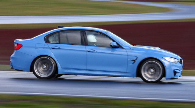 M3 on the track at Taupo in the wet.