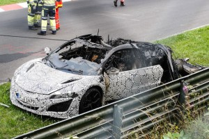 Honda NSX burnt down 03