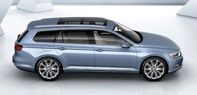 Passat wagon ... boot space is up by 47 litres