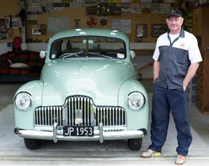 Mark Grey and his 1953 Holden FX ute