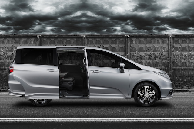 One-touch sliding doors means more room for passengers
