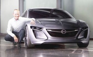 Stefan Jacoby with the Opel Monza concept