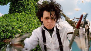 Johnny Depp, as Edward Scissorhands