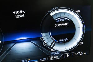 Comfort mode, where the petrol motor chimes in under throttle