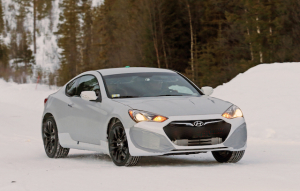 Hyundai is testing new Genesis coupe drivetrain in the old car