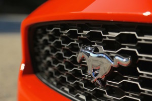 Famous 'Pony car' badge on the grille