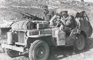 An SAS-equipped Jeep in North Africa in 1943