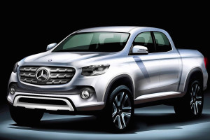 A sketch of the Mercedes-Benz pick-up and rival to models like the Toyota Hilux