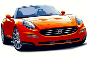 A computer rendition of what the new Fiat 124 Spider might look like