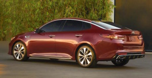 New Optima shows is swooping rear