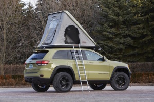Grand Cherokee Overland concept and its two-person tent