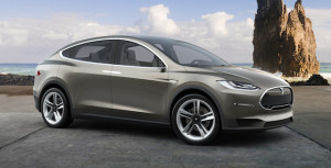 Tesla's 'teaser' picture of the Model X