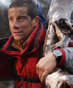 Bear Grylls and his Bremont ALT1-Pilot