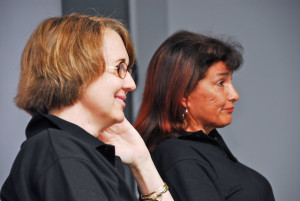 Fabrizia Pons (left) and Michelle Mouton in Auckland a few years ago