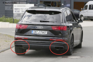 Highlighted: The quad exhaust tips of the SQ7