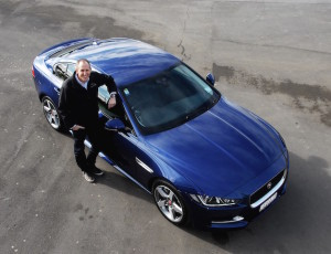 Jaguar NZ chief James Yates with the XE