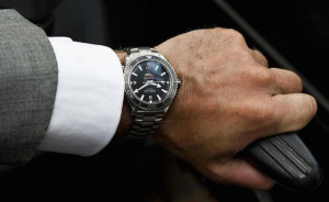 The Omega Planet Ocean on Daniel Craig's wrist