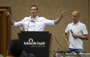 Valasek (left) and Miller at last year's Black Hat conference