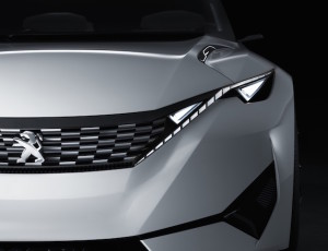 Fractal's grille and headlight assembly will roll out across the Peugeot range