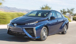 The hydrogen-powered Mirai sedan