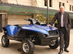 Alan Gibbs and his Quadski ATV