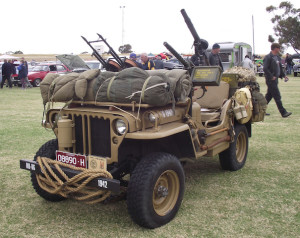 Example of a 1942 Jeep equipped for use by SAS troops in North Africa