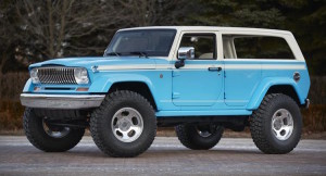 The Wrangler-based Jeep Chief concept and its modified razor grille from the Wagoneer
