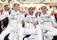 Happy faces ... Hartley, Webber, and Bernhard