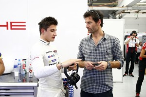 Evans talks to Webber about the test drive