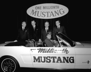 Pilot Stanley Tucker traded Mustang No. 1,  pictured at top of this page, for the one-millionth model