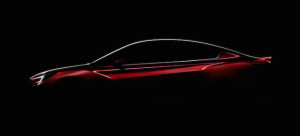 Teasing profile of the sedan leading to its unveiling in Los Angeles