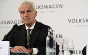 Volkswagen CEO Matthias Mueller who replaced Martin Winterkorn at the helm of the carmaker