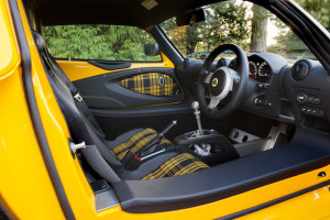 Colour-coded Exige, yellow on yellow