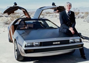 John DeLorean with one of his original creations