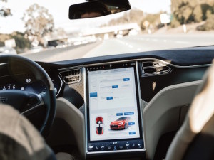 The display in the current Tesla Model S