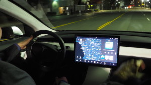 The video display in the Model 3