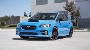 Hyper blue colour of the  limited-edition WRX STi