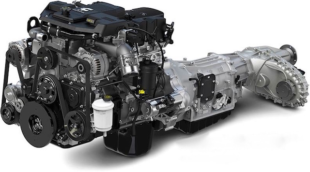 Ram's heavy-duty 6.7-litre Cummins diesel with transmission and 4x4 transfer case