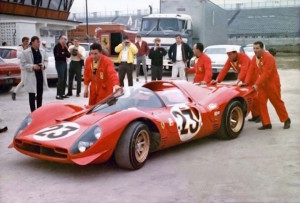 The Ferrari P4 in which Amon and Bandini won the 1967 Daytona