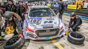 The i30 Hyundai used at the Nurburgring 24-hour in May,  at top and above