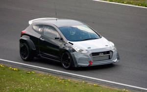 An i30 N prototype on the test track